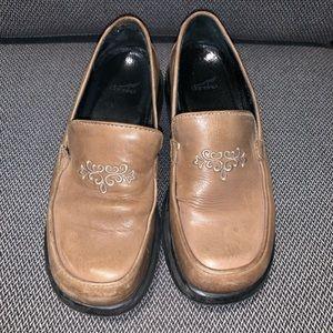 DANSKO Beige/Tan Embroidered Loafer - Size 39